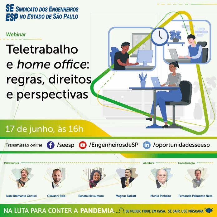 Live dos Engenheiros SP debate teletrabalho e home office